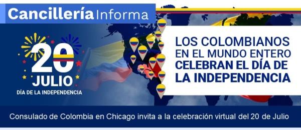 Consulado de Colombia invita a la celebración virtual del 20 de Julio
