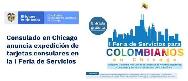 Consulado en Chicago anuncia expedición de tarjetas consulares en la I Feria de Servicios en 2019