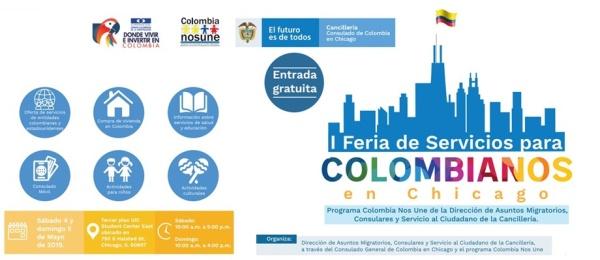 Ya salió la programación de la primera Feria de Servicios para la comunidad colombiana